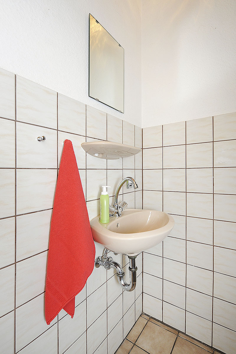 Badezimmer in der Ferienwohnung Seestern in Carolinensiel